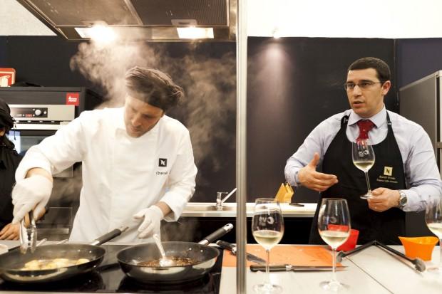 O chef argentino Chakall e o presidente da associação de escanções Rodolfo Tristão