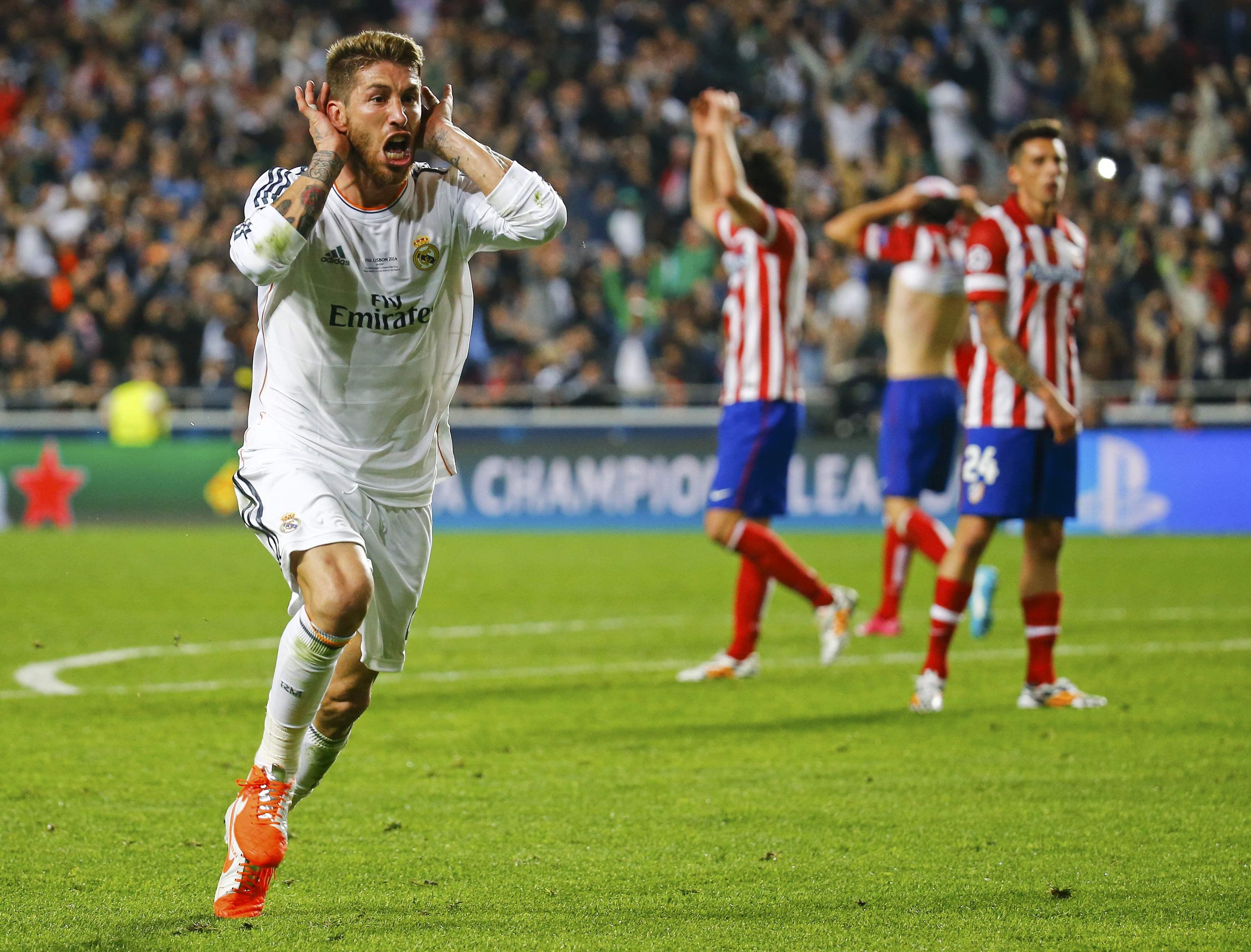Sergio Ramos celebra um golo