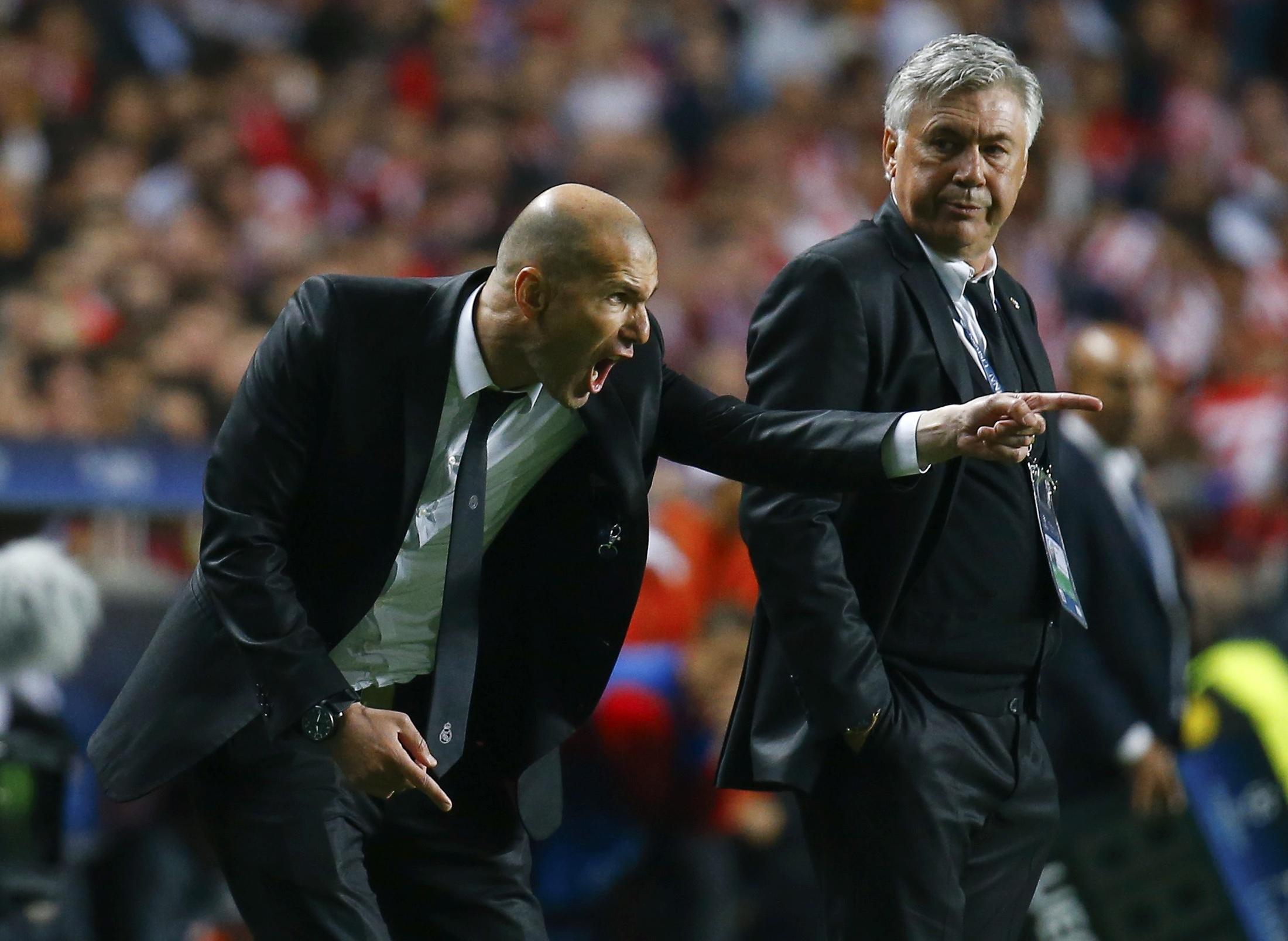 Carlo Ancelotti e Zinedine Zidane