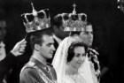 O rei Juan Carlos e a rainha Sofia na cerimónia do seu casamento