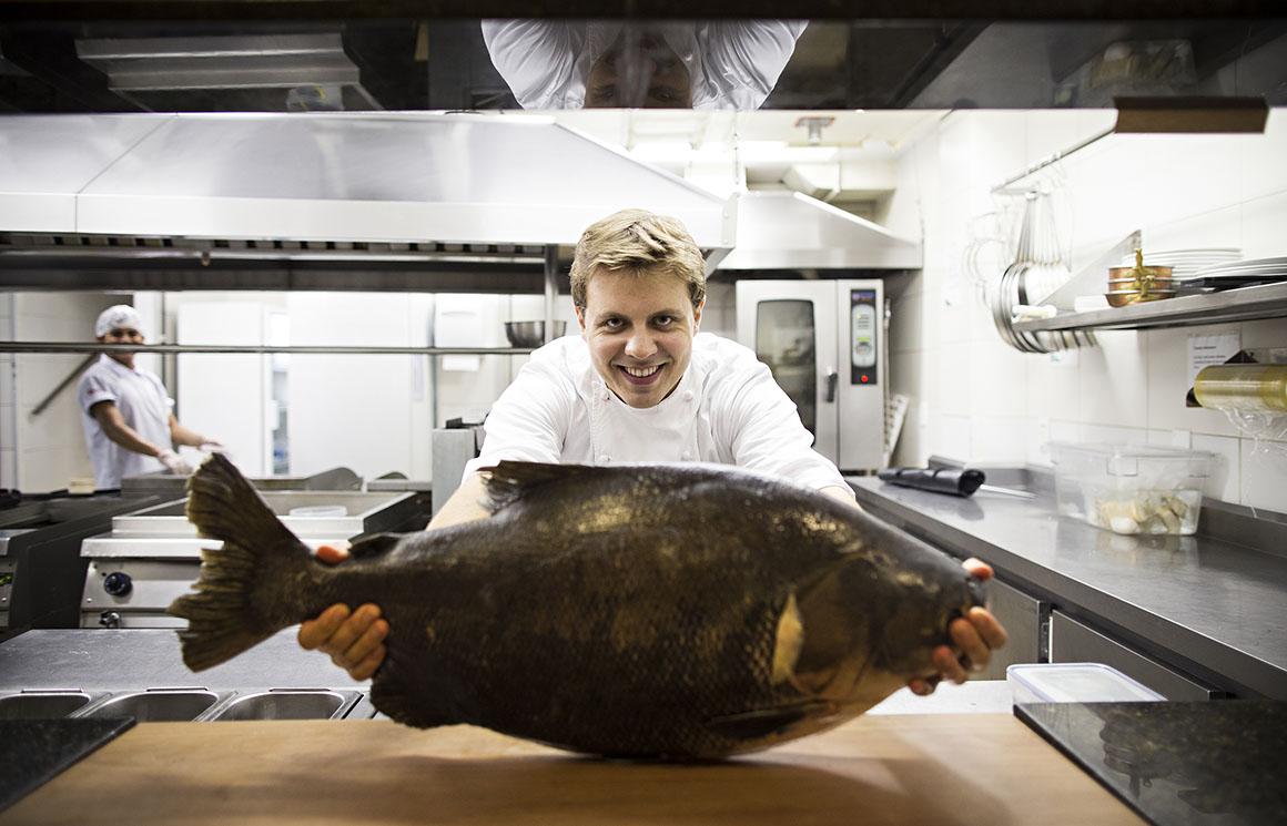 Felipe Schaedler, chef do restaurante Banzeiro