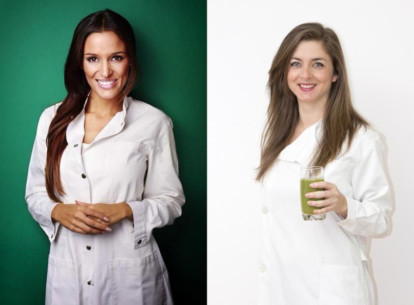 À esquerda a autora de A Dieta Viva!, Ana Bravo. Lillian Barros, autora do Sumos e Águas Detox, à direita.