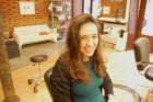 Lúcia Fernandes escolheu um cabeleireiro lisboeta para cortar o cabelo