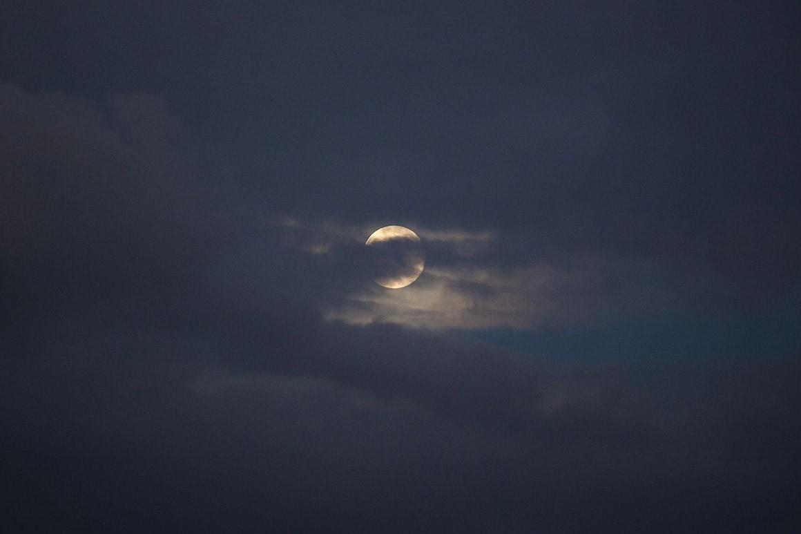 Um domingo de Super Lua