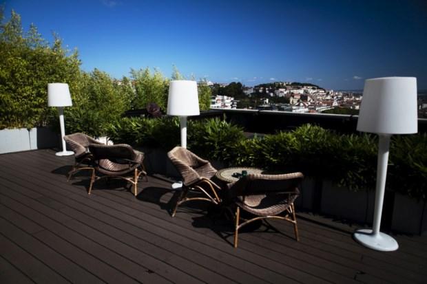 Vista a partir do hotel Tivoli em Lisboa