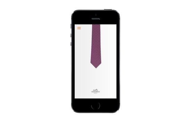 A Hermès ensina-o a fazer o nó da gravata