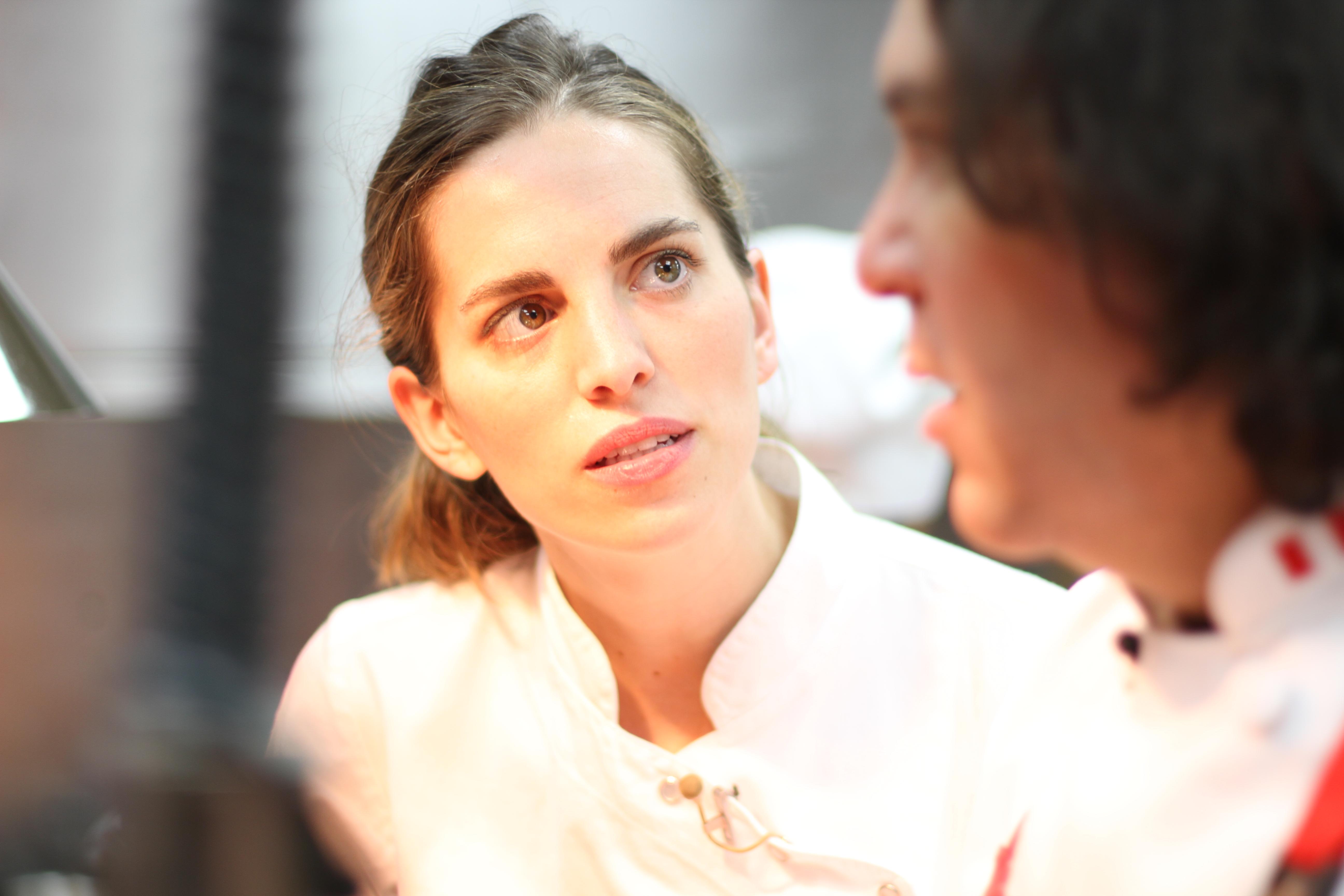 Katie Button com o peruano Gaston Acúrio