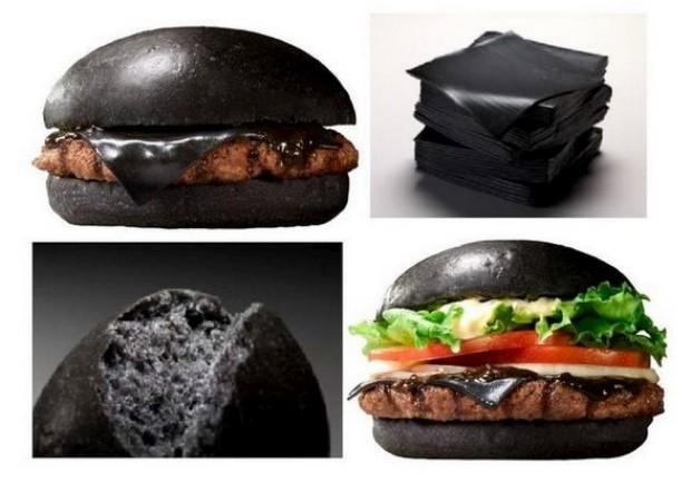Preto é a cor dos novos hambúrgueres do Burger King