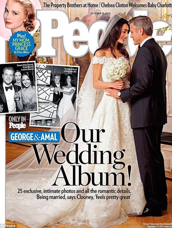 Reveladas primeiras fotos de Clooney e Amal vestidos de noivos