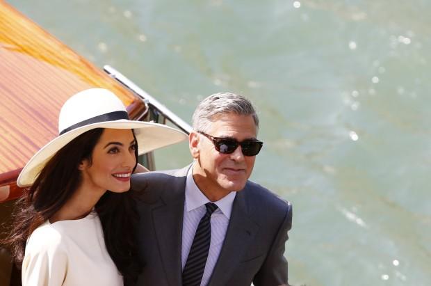 Durante quatro dias, o casal foi profusamente fotografado nos canais de Veneza
