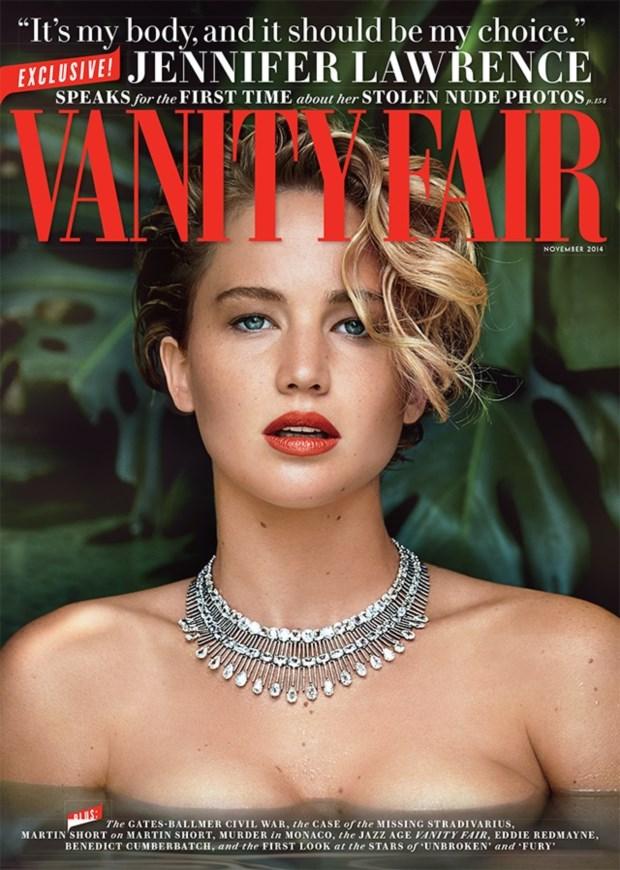 A capa de Novembro da revista Vanity Fair