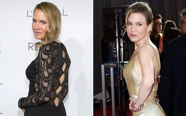 À esquerda, a actriz na cerimónia desta segunda-feira. À direita, uma foto de Fevereiro de 2013