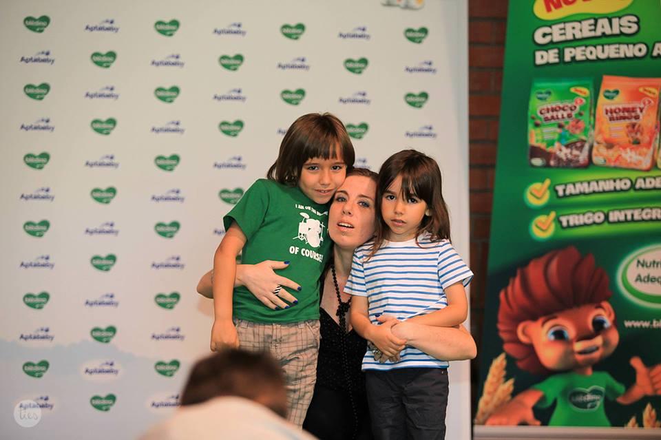 Sara Patrão com os filhos João e André