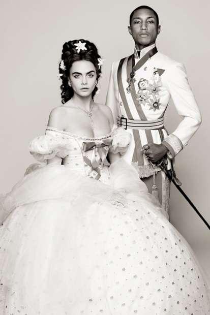 Pharrell Williams e Cara Delevigne dão corpo à história de Coco Chanel