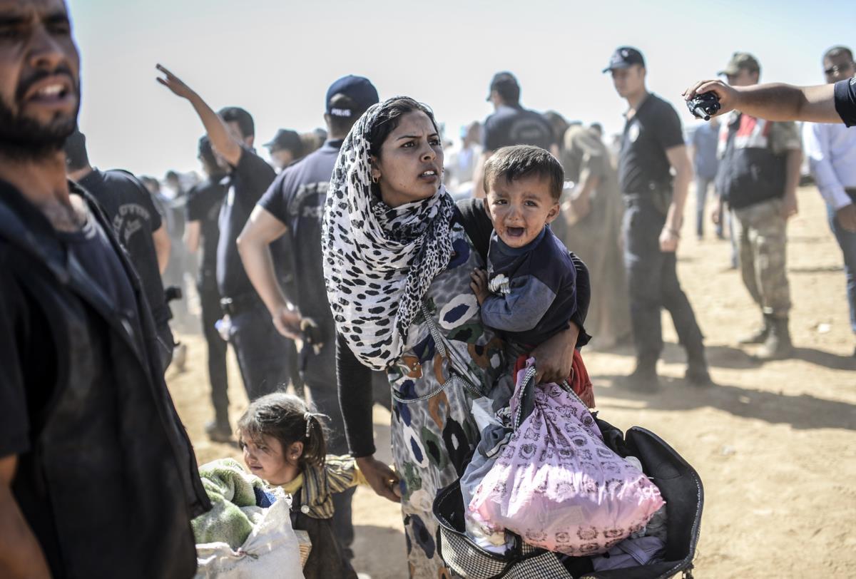 Refugiados sírios em Suruc, Turquia