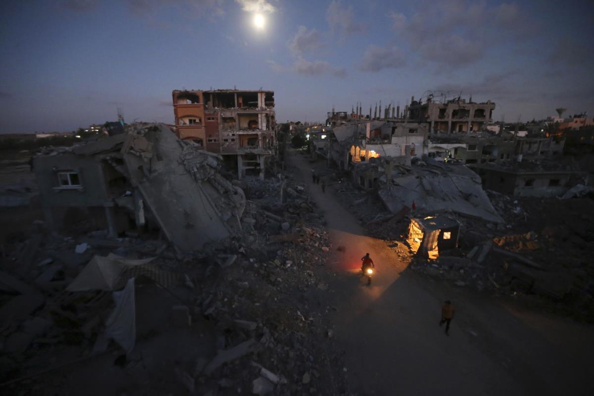 O bairro de Beit Hanoun depois de um ataque israelita