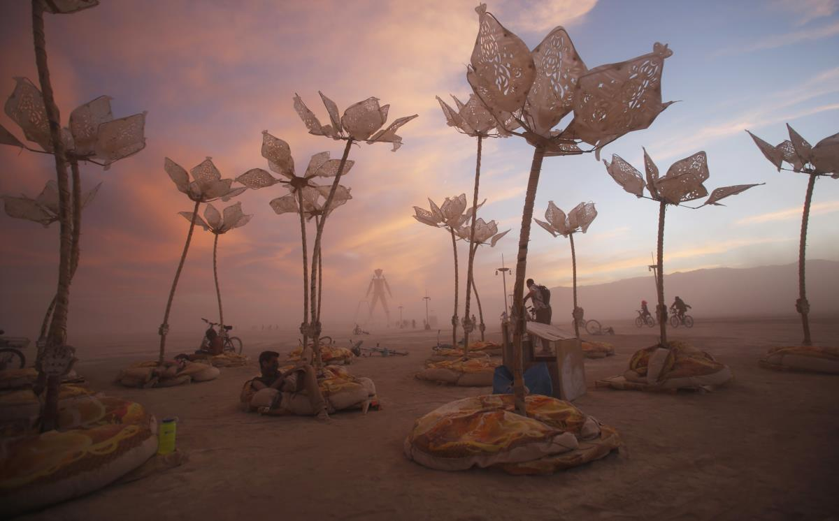 Festival Burning Man, no deserto do Nevada, Estados Unidos
