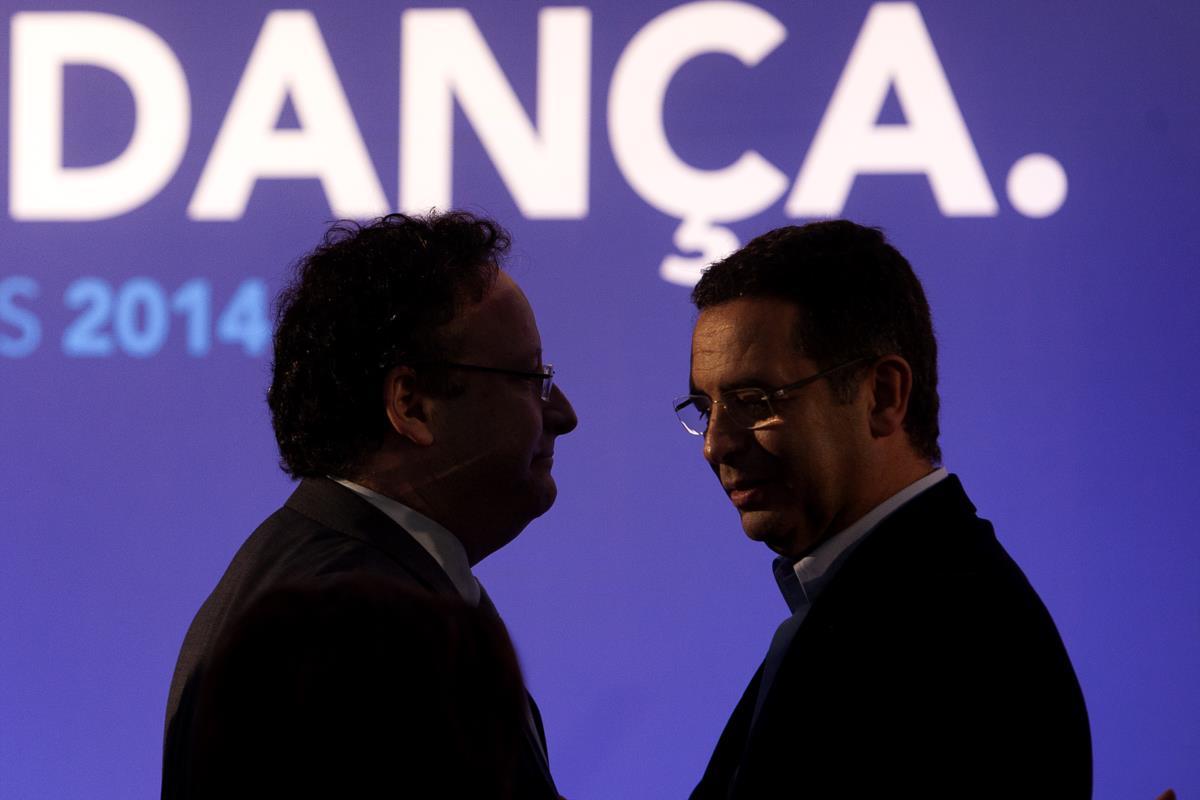 Francisco Assis e António José Seguro durante a apresentação da candidatura do Partido Socialista para as eleições europeias. Lisboa, 30 de Março de 2014
