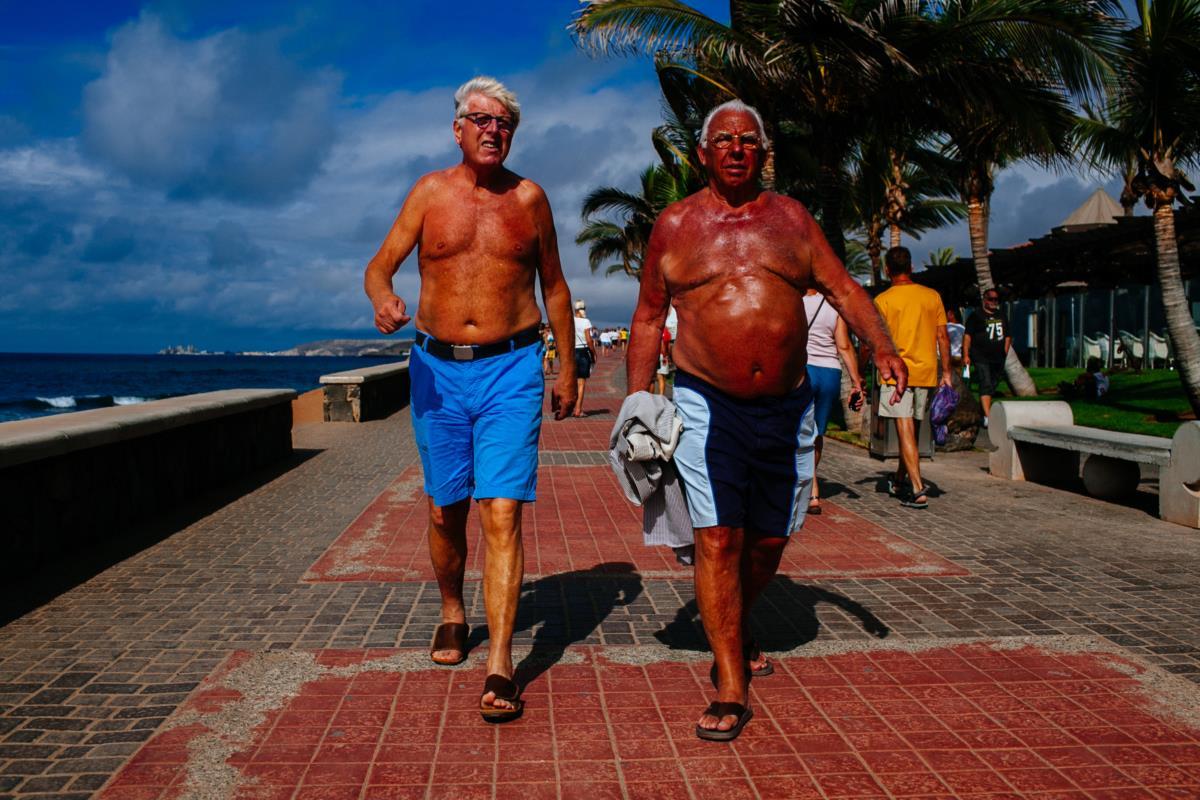 Turistas na Grande Canária