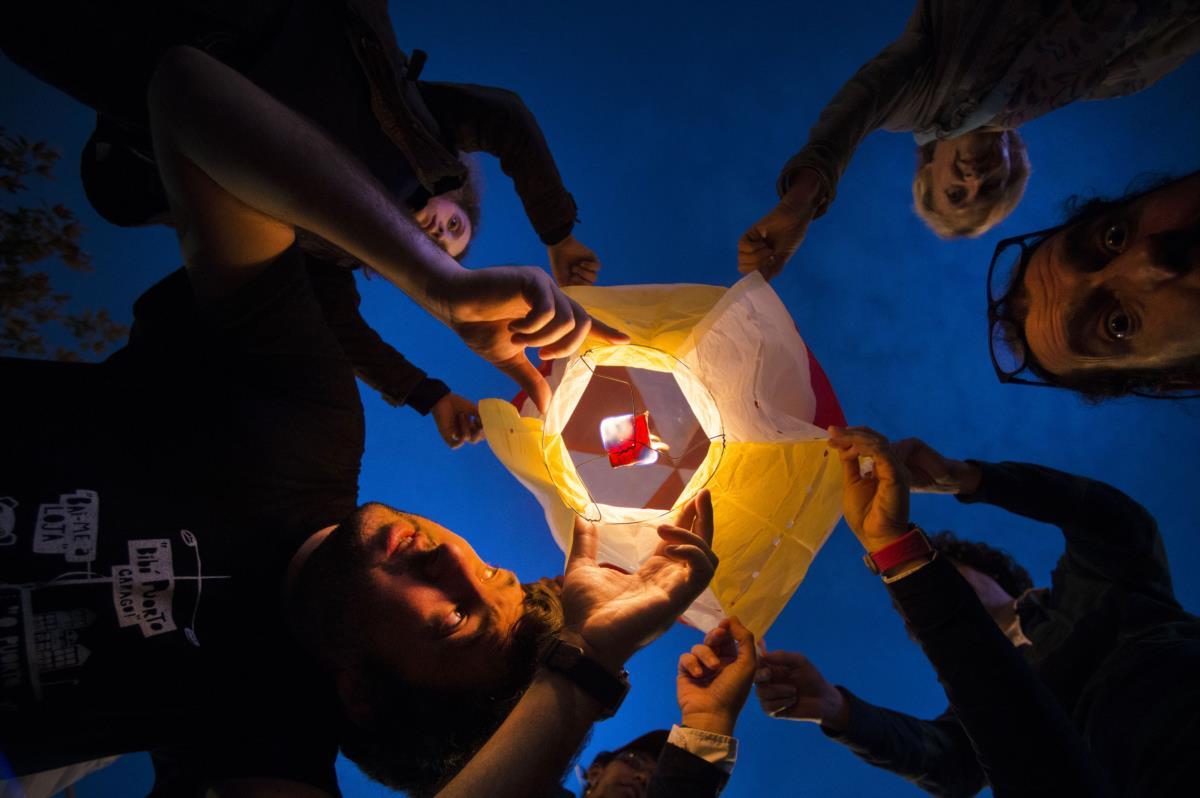 Porto - Noite de S. João - Lançamento do balão