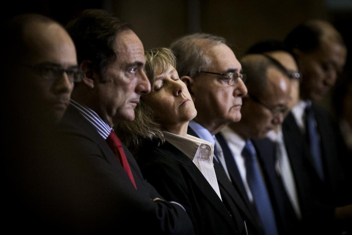 Ministra das Finanças, Maria Luís Albuquerque, na cerimónia da compra da Caixa Seguros da CGD pelo grupo Fosun