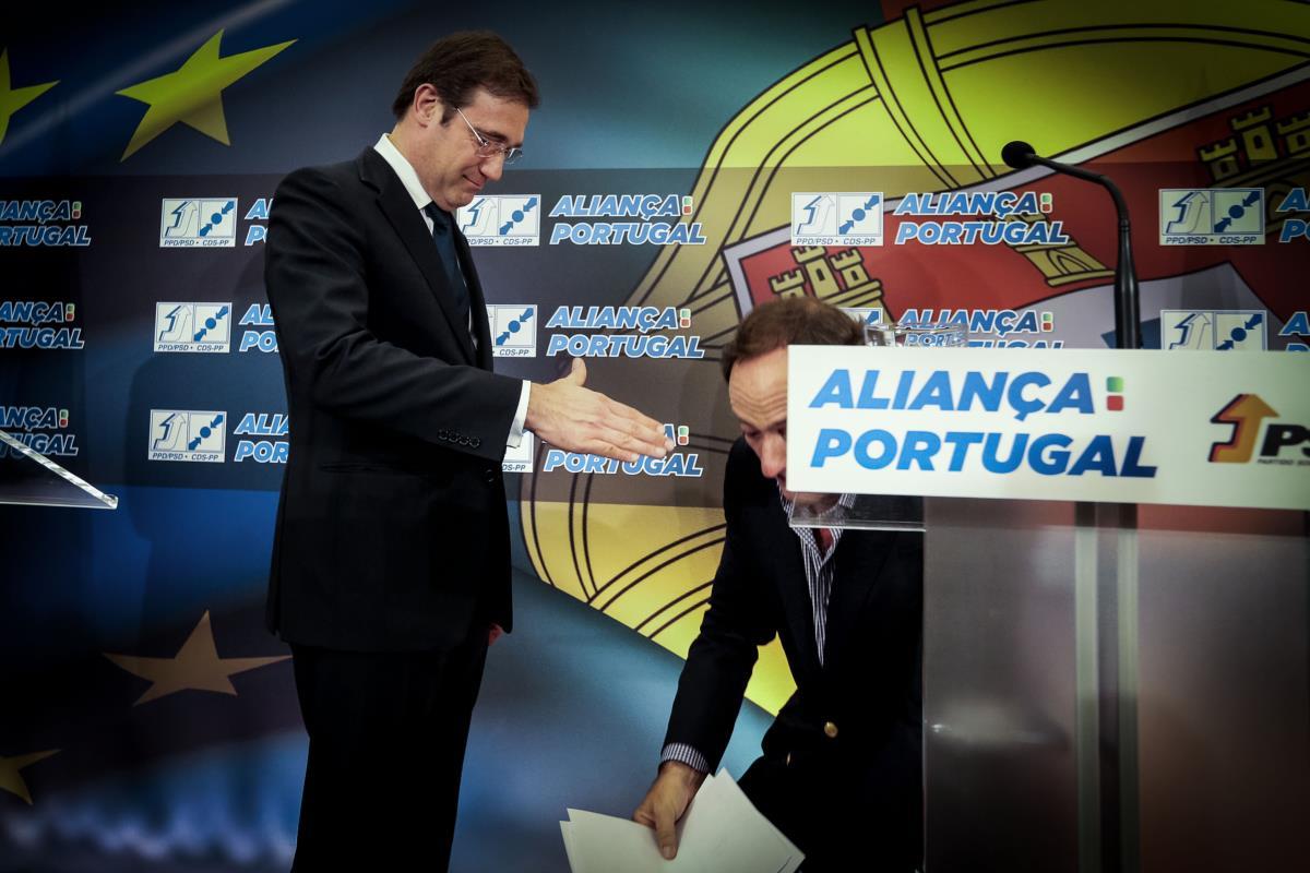 Pedro Passos Coelho e Paulo Portas no rescaldo dos resultados das eleições europeias
