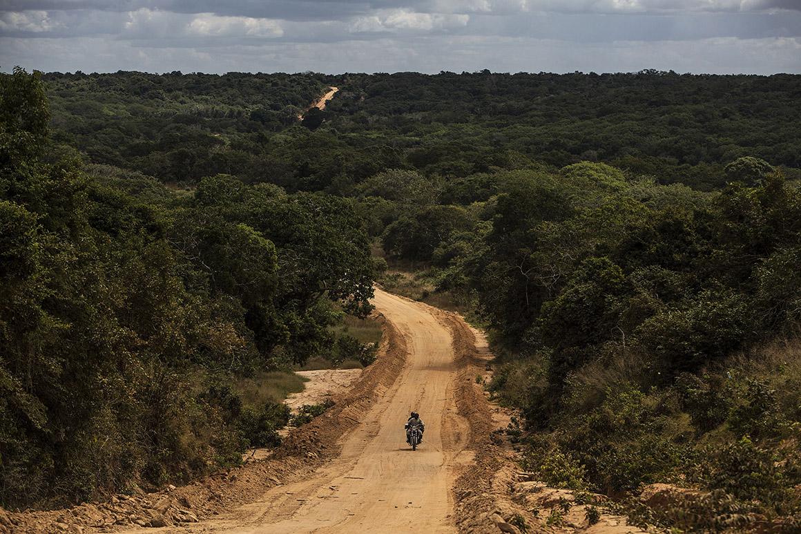 Estrada a ser construída para a exploração do gás proveniente da Bacia do Rovuma, Palma, Cabo Delgado, Moçambique