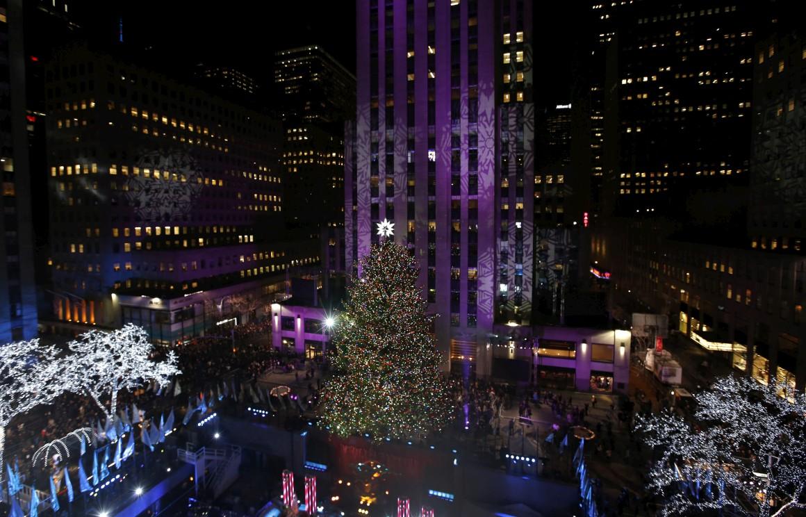 EUA, Nova Iorque: a clássica árvore do Rockefeller Center