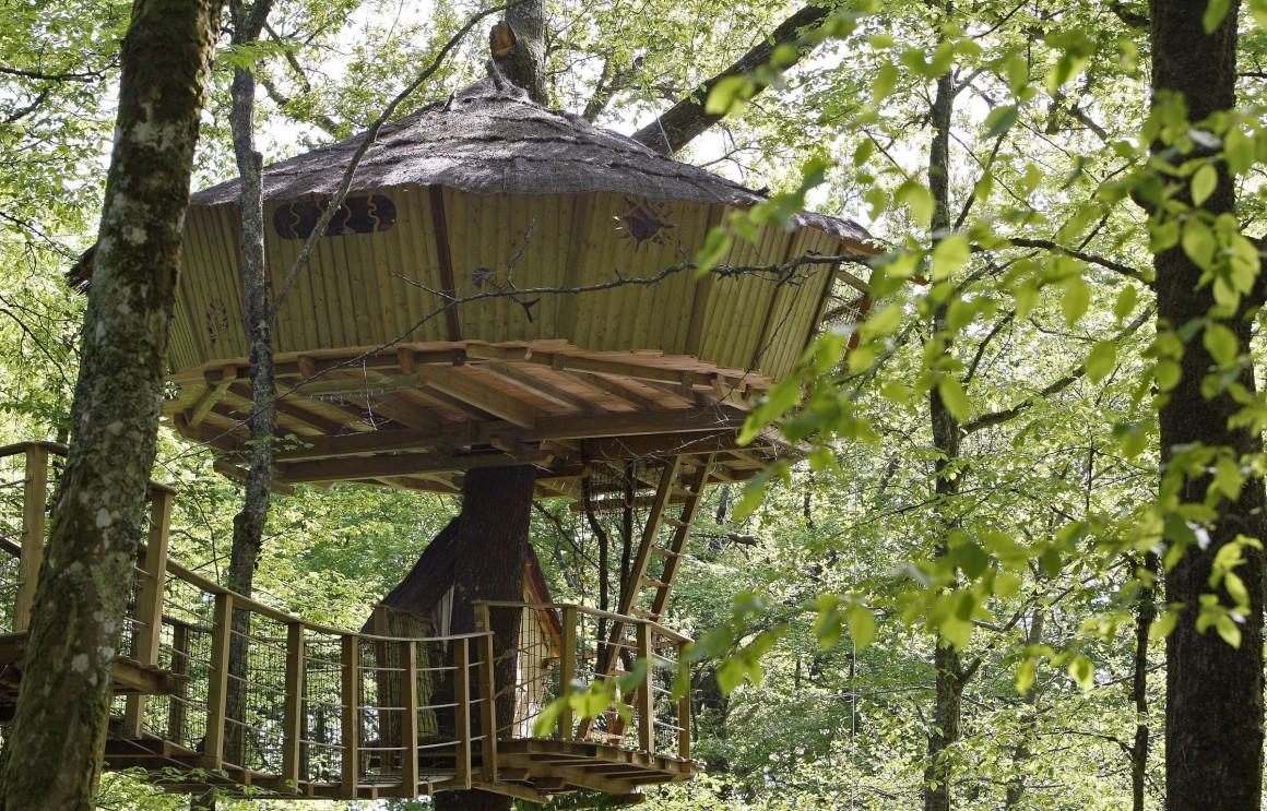 França, Le Pian Medoc, uma casa na árvore da Natura Cabana, para férias ecológicas