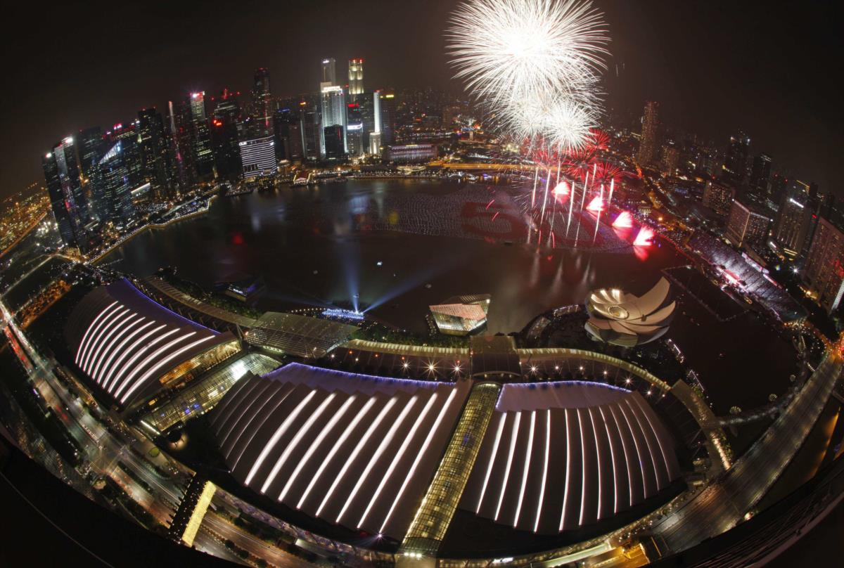 Passagem do ano em Singapura