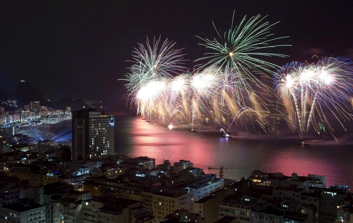No Rio de Janeiro festejou-se a mudança de ano