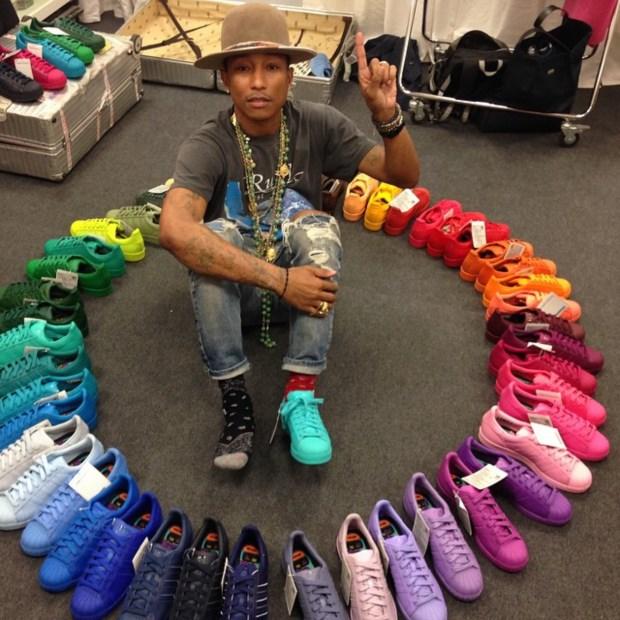 O arco íris de Pharrell Williams para a Adidas Life&Style