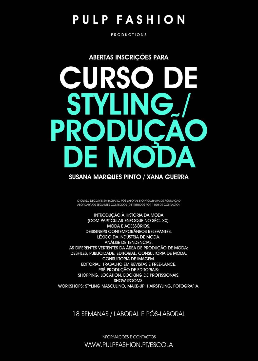 Pulp Fashion abre novo curso de styling