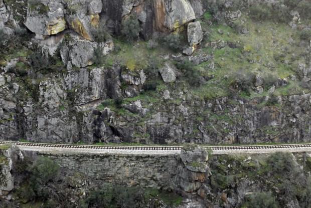 Linha do Tua, fotografada em Dezembro de 2007