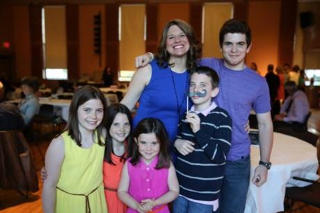 Janell e os cinco filhos
