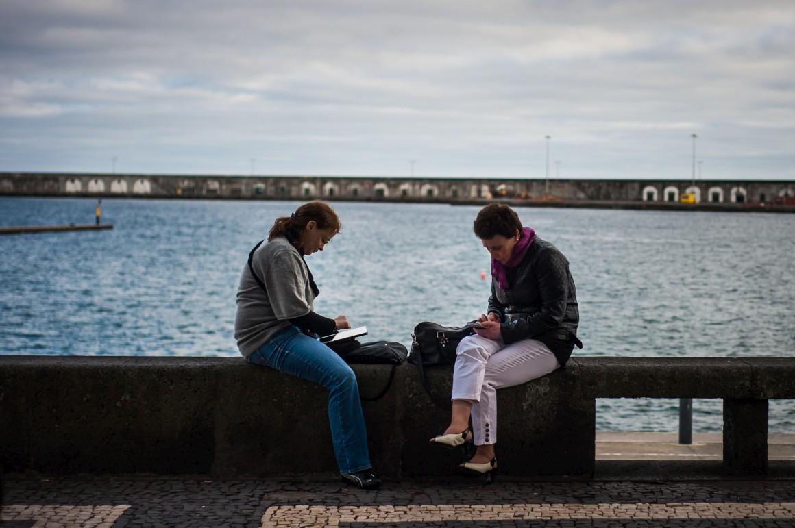 Na doca de Ponta Delgada