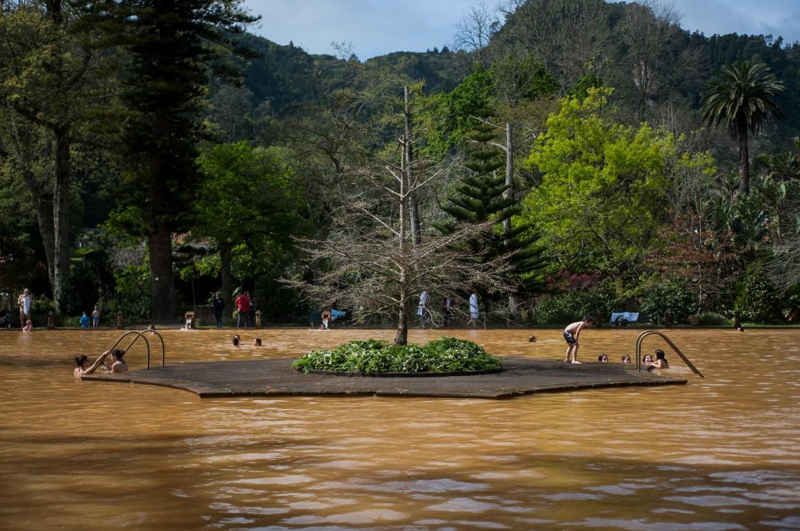 Banho termal no Terra Nostra