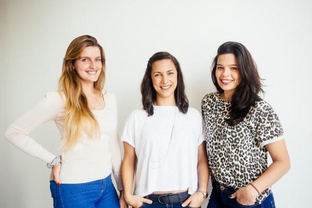 As criadoras do projecto: Carlota Sobral, Rita Serrano e Maria Bradshaw