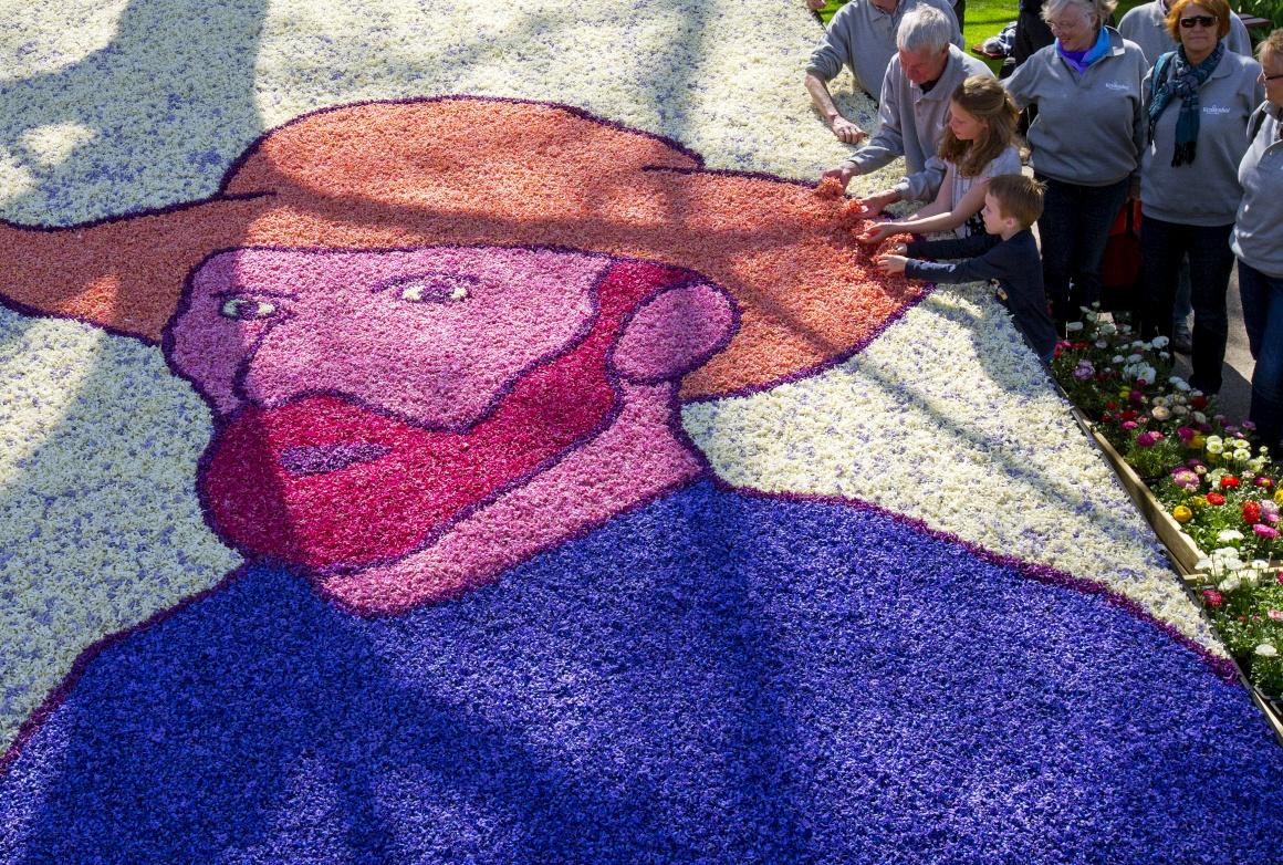 Keukenhof, Abril 2015. Naturalmente, nunca falta uma homenagem florida a Van Gogh