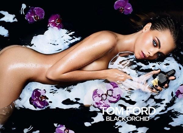 A imagem da campanha publicitária do perfume