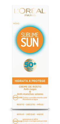 Protector de rosto com uma textura não gordurosa, com activo hialurónico e Melanin-Control para combater as rugas e as manchas. Existe com SPF 30 e 50+, da L'Oréal. 15,99 euros