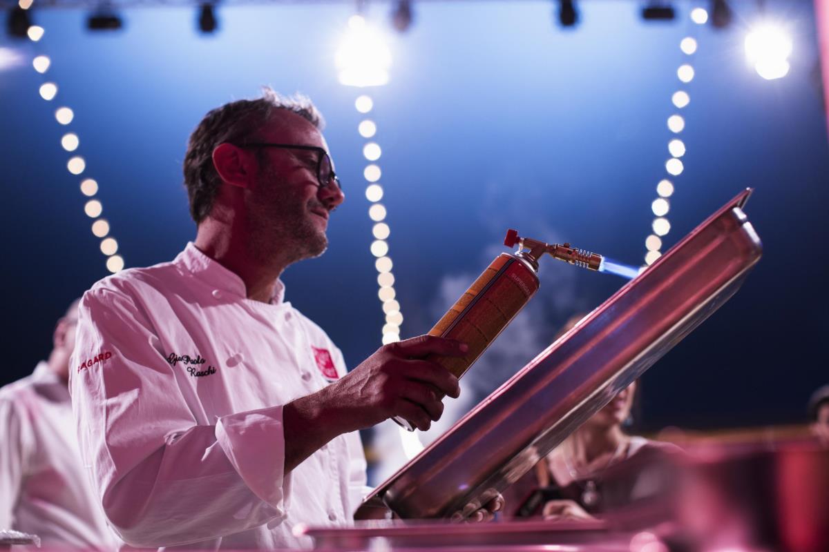 O chef italiano Gian Paolo Raschi
