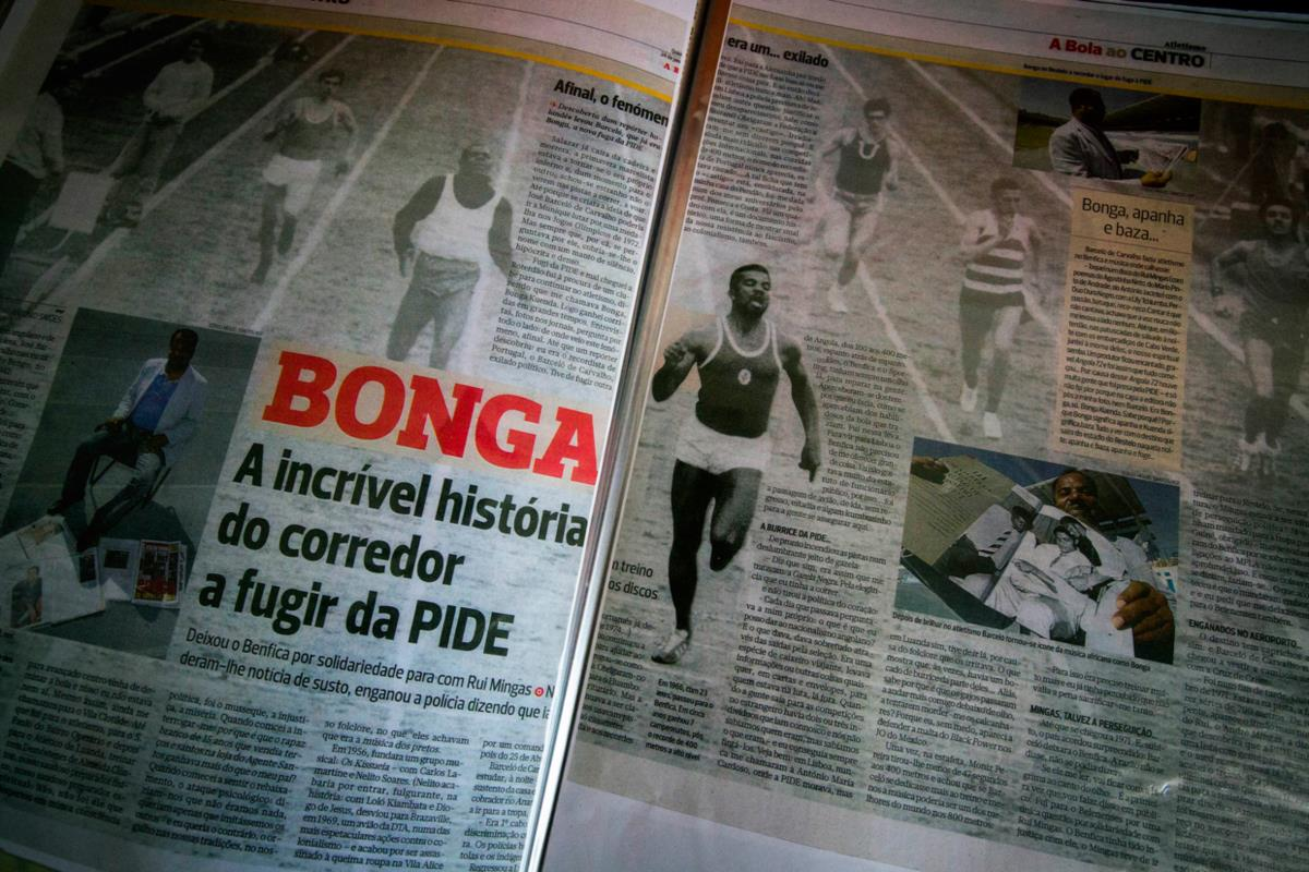 Aos 23 anos, conquistou em Angola o título de campeão nos 100, 200 e 400 metros