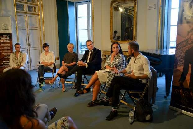Filipe Faísca, Graziela Sousa, Eduarda Abbondanza, João Jacinto, Anabela Becho e José António Tenente (da esquerda para a direita)