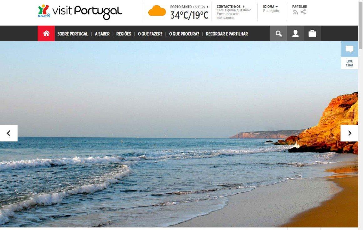 Site de turismo oficial:VisitPortugal.com