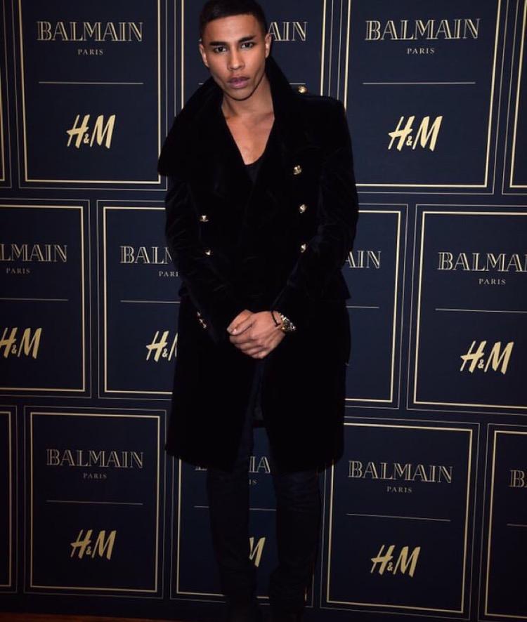 O director criativo da Balmain no lançamento oficial da colecção H&M x Balmain