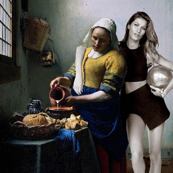 Gisele Bündchen pode estar num quadro de Vermeer?
