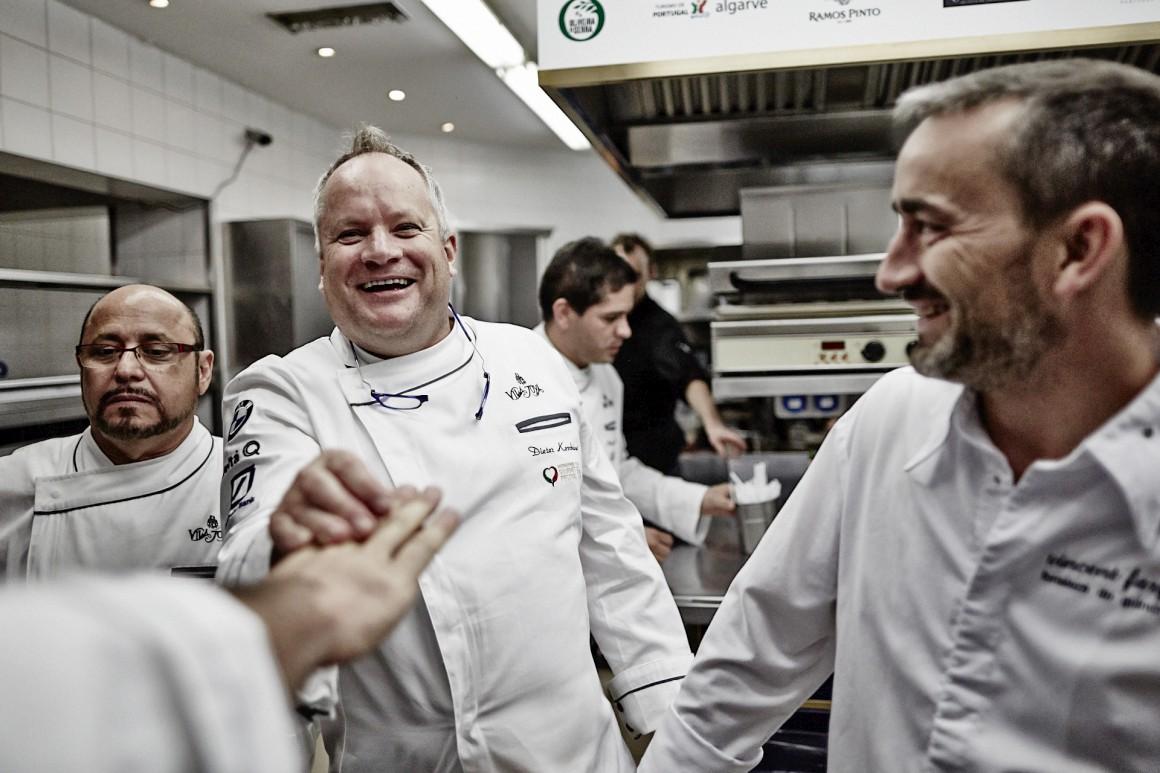 Duas estrelas Michelin: Vila Joya (Albufeira), de Dieter Koshina (ao centro)