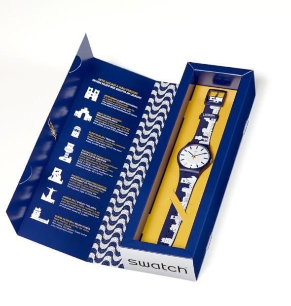 Swatch faz homenagem a Lisboa com um relógio azul e branco
