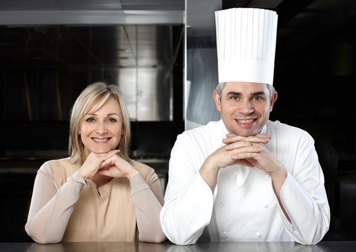 O chef Benoît Violier e a sua mulher Brigitte: o restaurante que os dois comandam conquistou o primeiro posto de La Liste